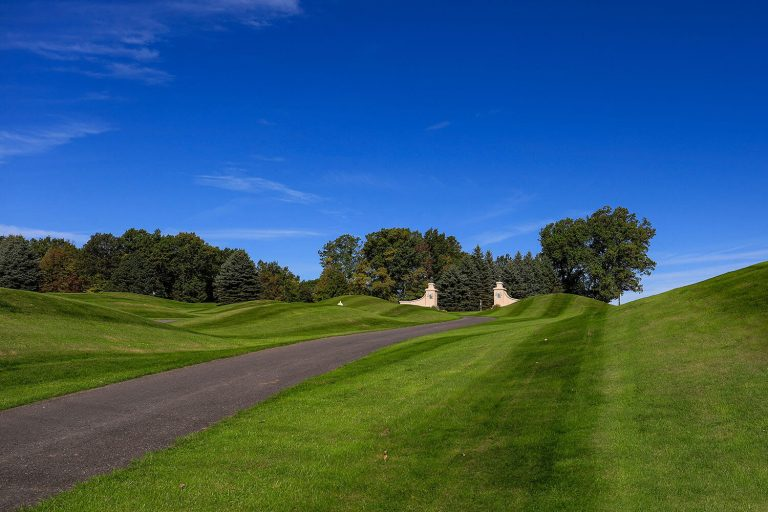 A photo of the Hideaway Hills golf course entrance