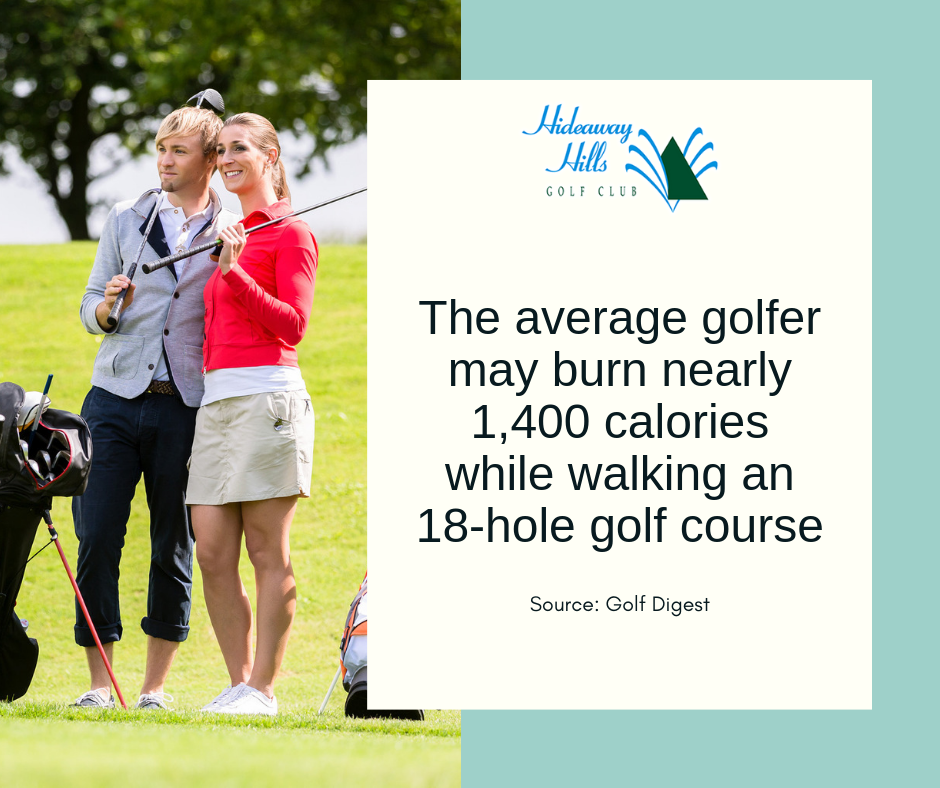 golf burns calories