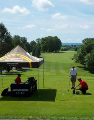 bridgestone tent at a hideaway hills golf event
