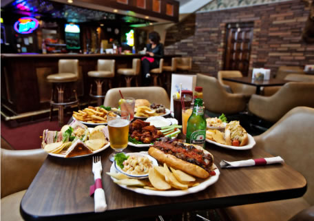 a photo of food served at the hideaway hills golf club restaurant